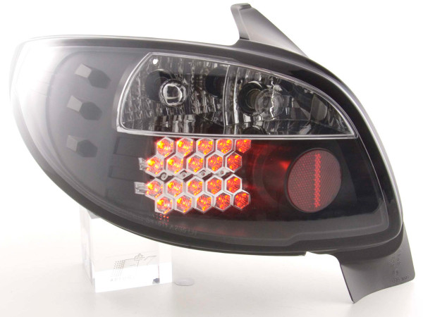 Led Taillights Peugeot 206 3/5 dr. not Cabrio Yr. 98-05 black