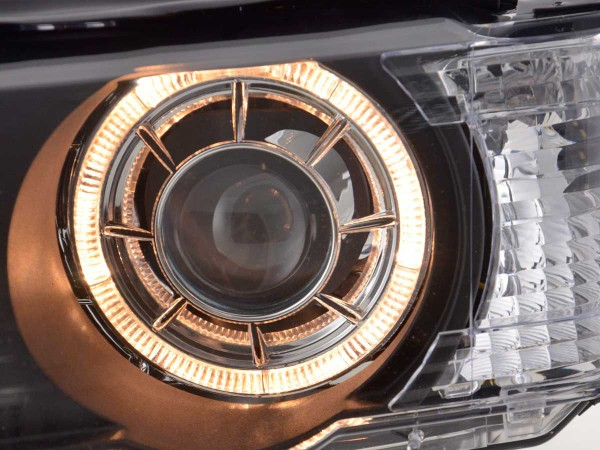 Angel Eye headlight BMW X5 type E53 Yr. 00-03 black