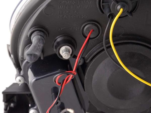 Daylight headlight Fiat 500 Yr. 07- black