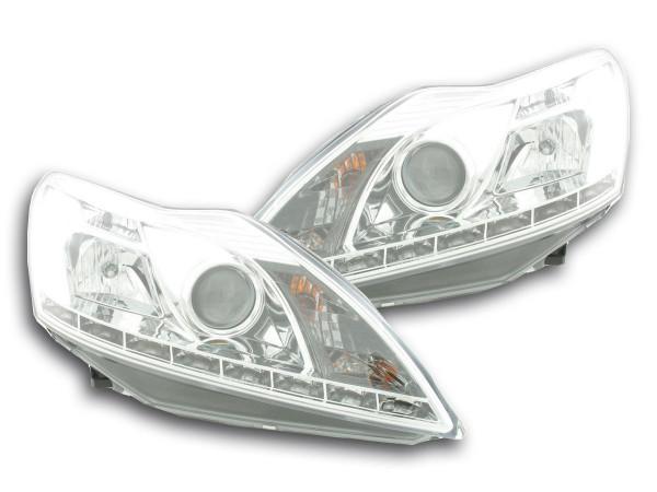 Daylight headlight Ford Focus 3/5-door. Yr. 08- chrome