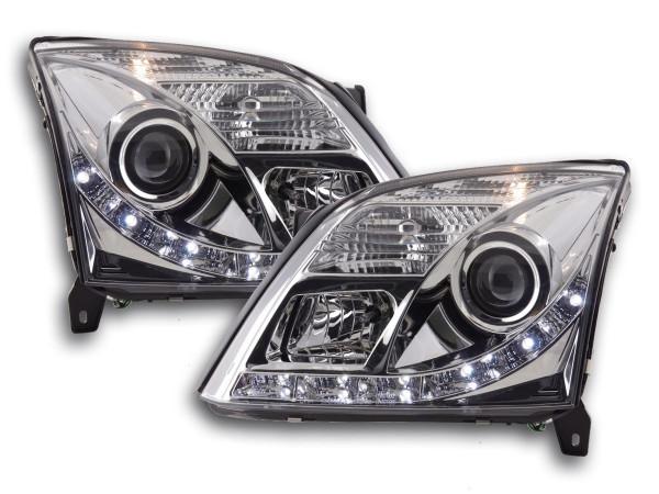 Daylight headlight Opel Vectra C Yr. 02-05 chrome