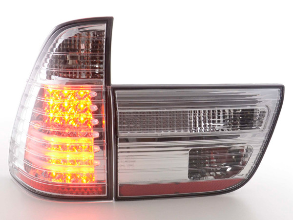 Led Taillights BMW X5 E53 Yr. 98-02 chrome