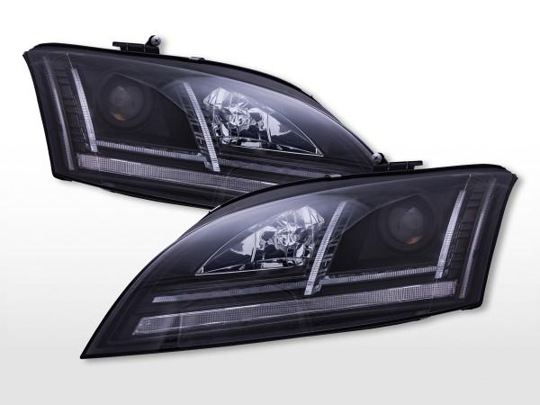 Daylight Scheinwerfer mit LED Standlicht Audi TT (8J) 2006-2011 schwarz
